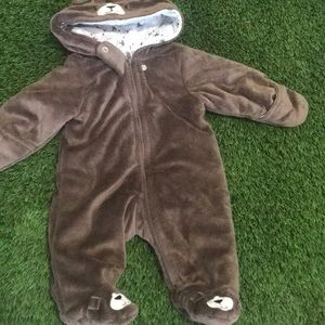 [3 for $15]  Baby Winter snowsuit dog print